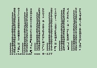 Screen codes 1