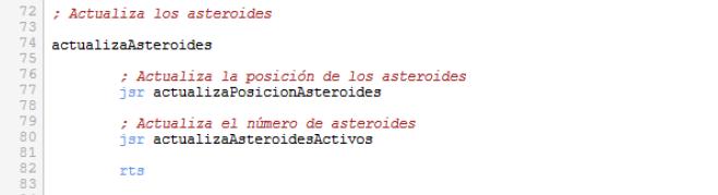 Asteroids - Actualización asteroides ampliada