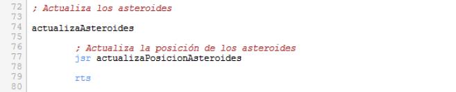 Asteroids - Actualizar asteroides