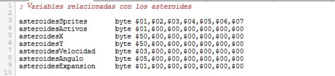 Asteroids - Solo 1 asteroide activo