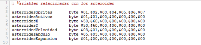Asteroids - Variables asteroides