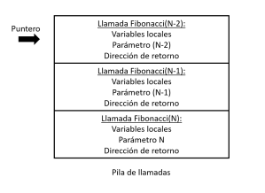 Pila - función recursiva