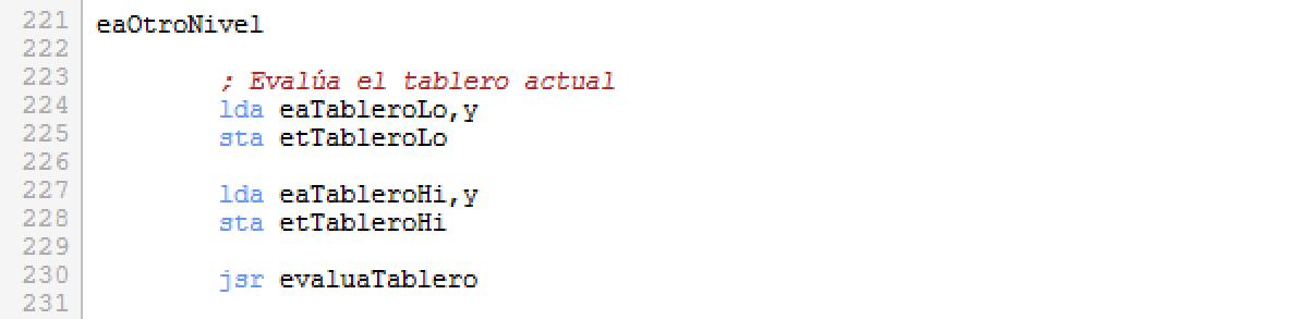 Rutina evaluaArbol - parte2